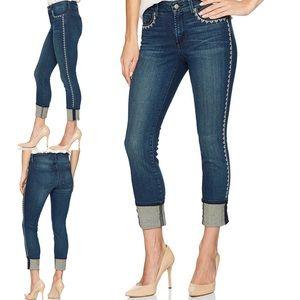 NYDJ Alina Wide Cuff Ankle Capri Jeans